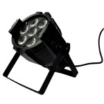 Projecteur Led 7X10W 4in1 - 7 canaux DMX